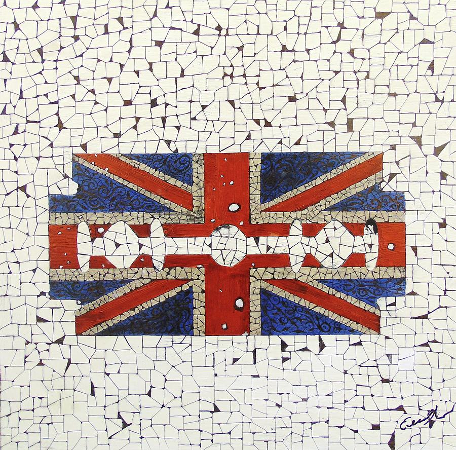 Popart Painting - Union Jack by Emil Bodourov