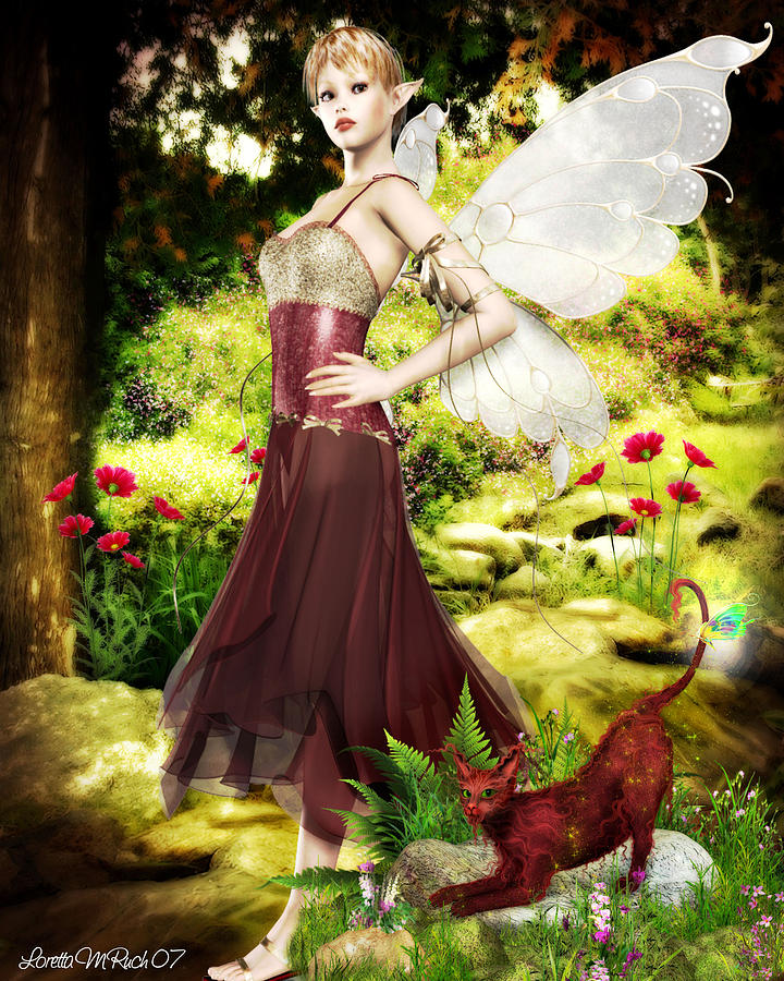 Bri Faerie Princess Of Poserlane Digital Art by Loretta Ruch