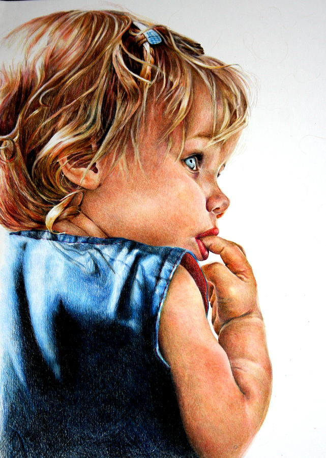 Colored Pencil Painting - Bri by Sarah Mattison