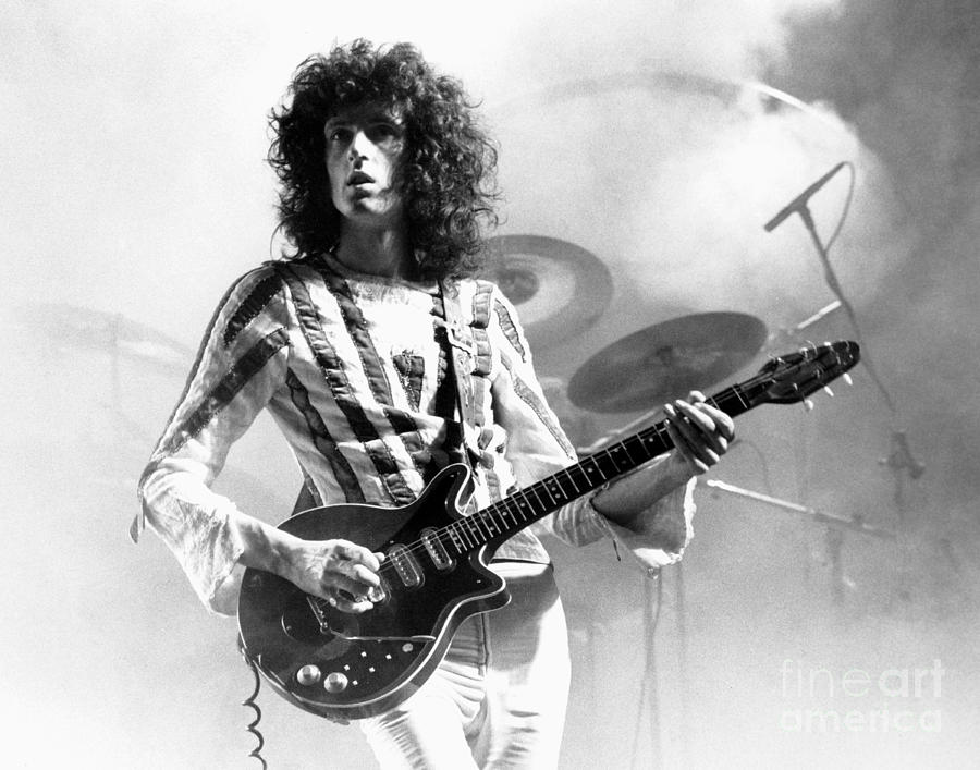 Brian May Photograph - Brian May Of Queen 1975 by Chris Walter