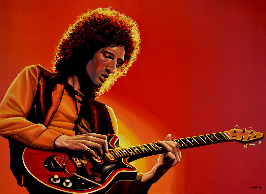 Brian May Painting - Brian May of Queen Painting by Paul Meijering