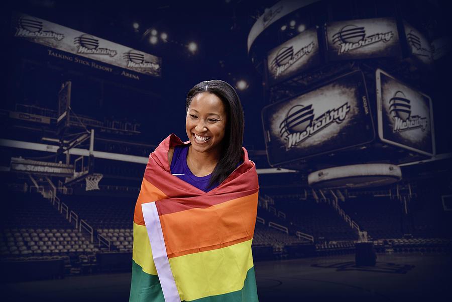 Wnba Photograph - Briann January LGBT PRIDE 1 by Devin Millington