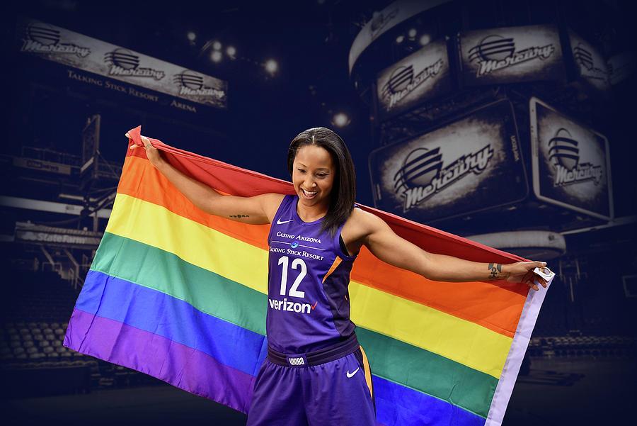 Wnba Photograph - Briann January Lgbt Pride 2 by Devin Millington