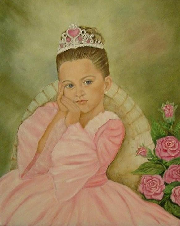 Princess Painting - Brianna - The Princess by Tresa Crain