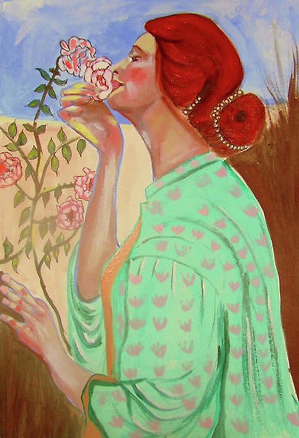 Pre-raphaelites Painting - Briar Rose by Rusty Woodward Gladdish