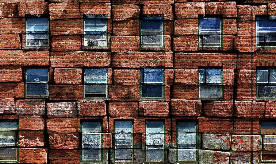 Brick Photograph - Brick-a-brick by Rick Lawler