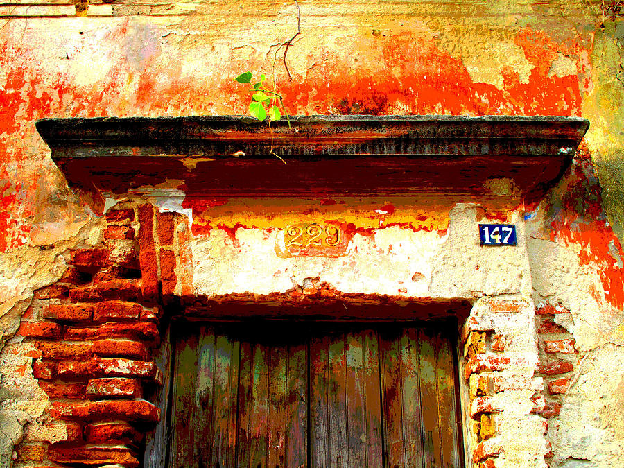 Darian Day Photograph - Brick And Wood By Darian Day by Mexicolors Art Photography