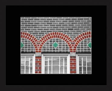 Selective Color Photograph - Brick Arches On Gray by Brooke Chao