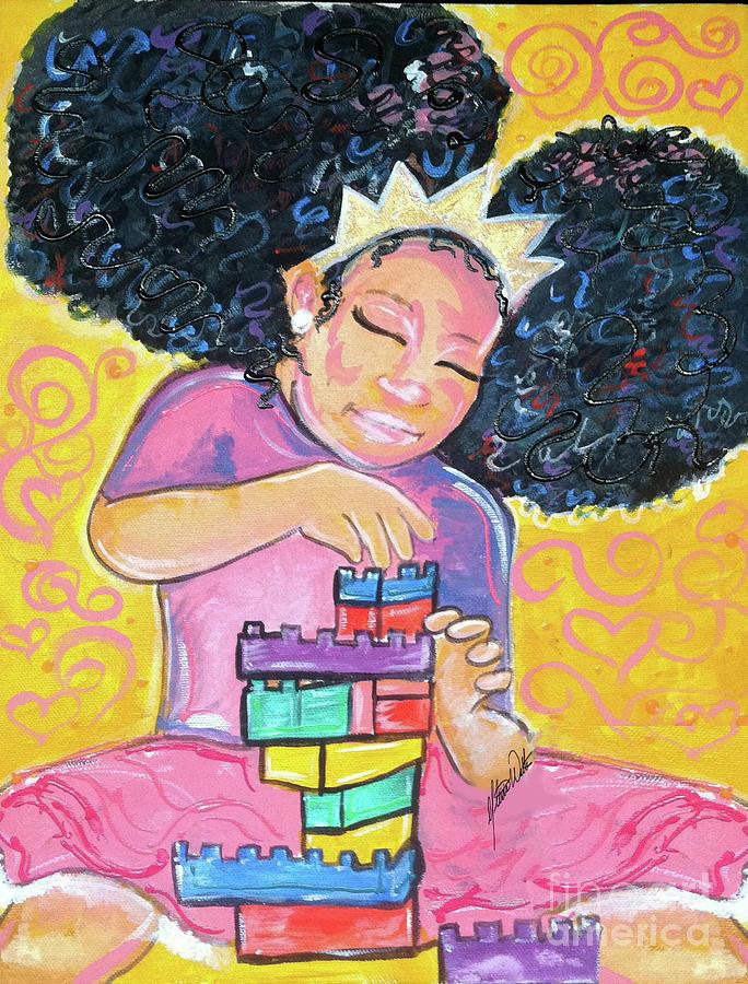 Princess Painting - Brick By Brick-nation Building by Alicia Walter