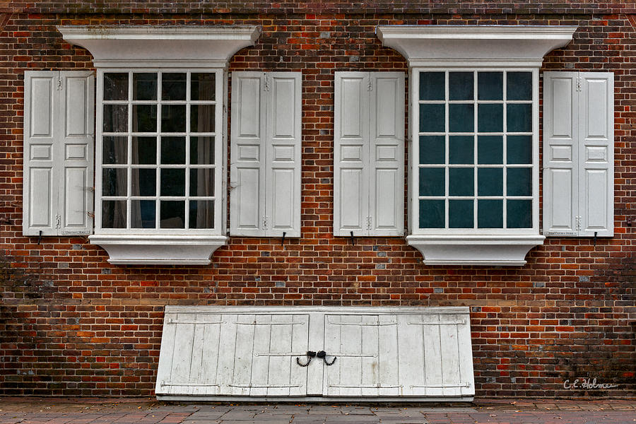 Windows Photograph - Brick Face by Christopher Holmes