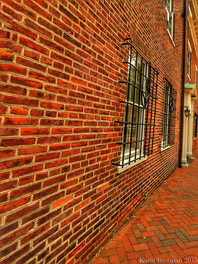 Annapolis Photograph - Brick Houses by Kathi Isserman