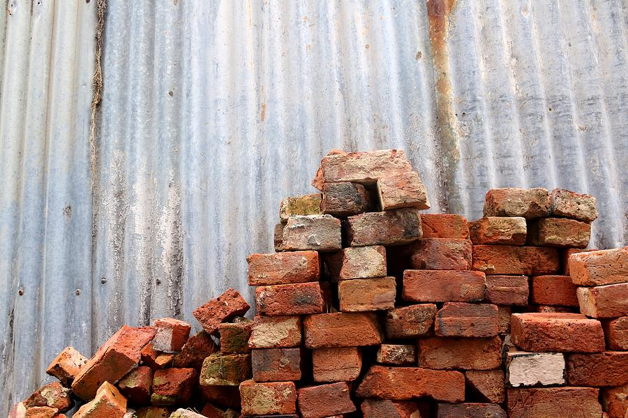 Brick Photograph - Brick Piled by Stephen Mitchell