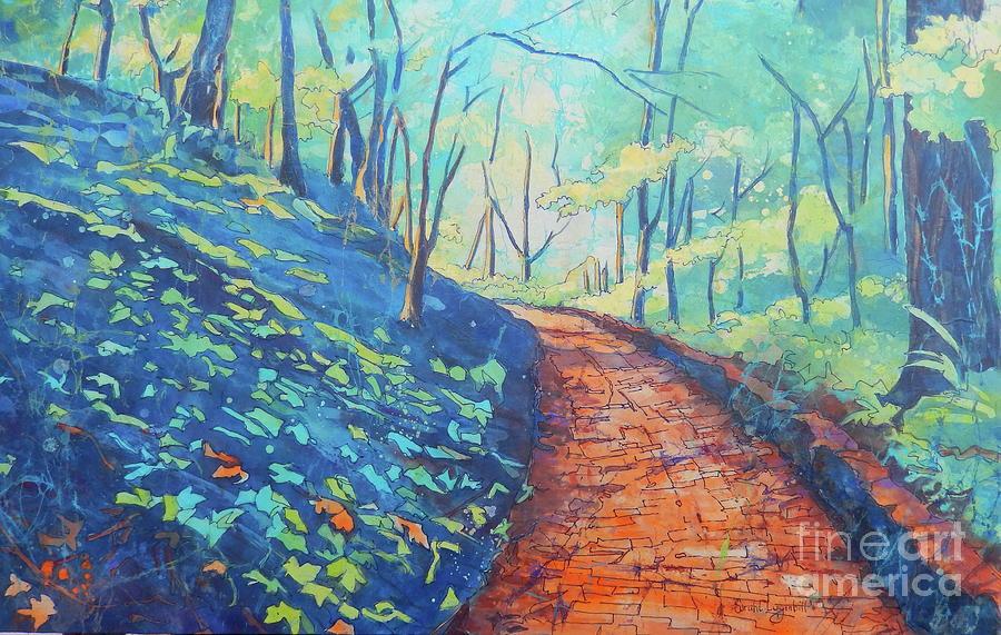 Batik Painting - Brick Walk by Sarah Luginbill