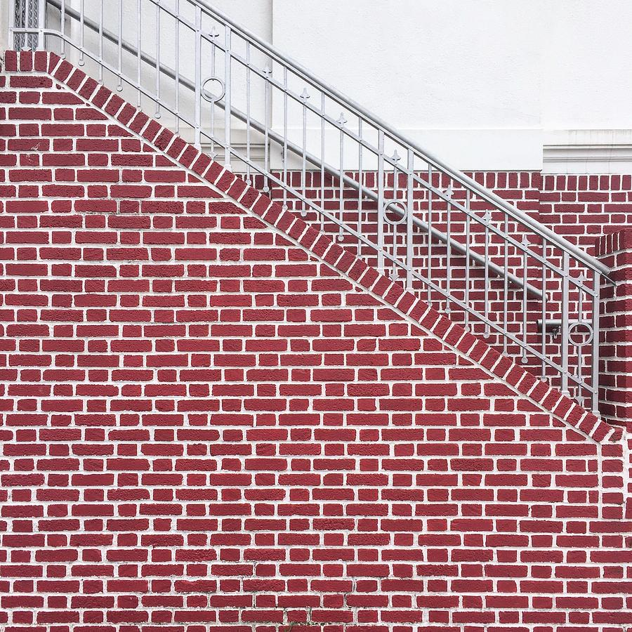 Brick wall and stairs by Erik Burg