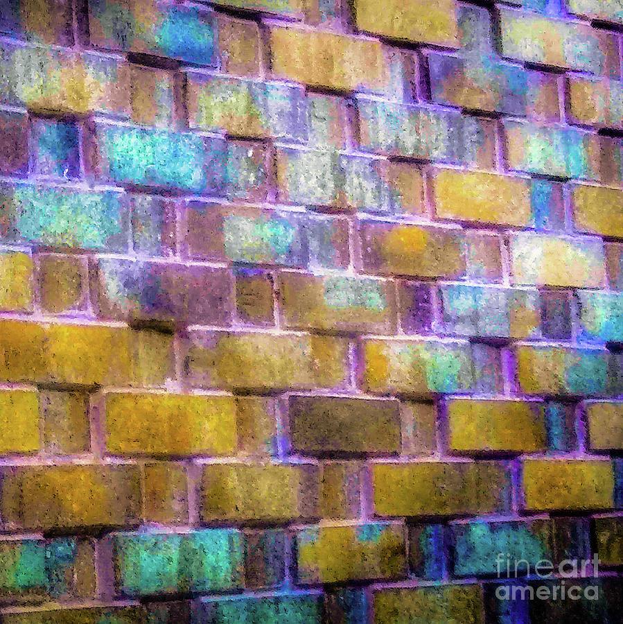 Brick Photograph - Brick Wall In Abstract 499 S by D Davila