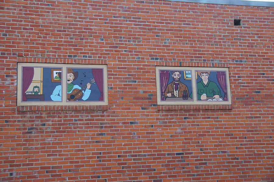 Brick Photograph - Brick Wall Street Art by Robert Braley