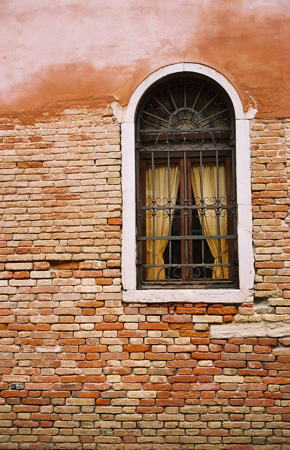Window Photograph - Brick Window by Kathy Schumann