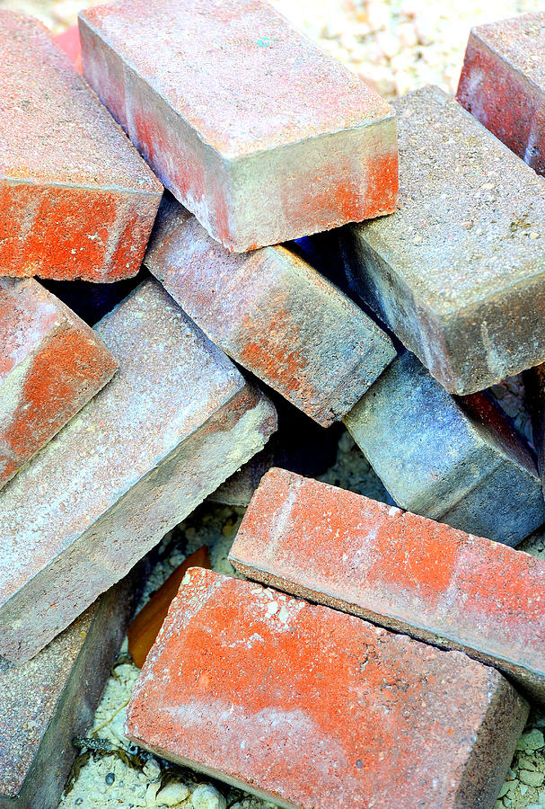 Construction Photograph - Bricks. by Oscar Williams