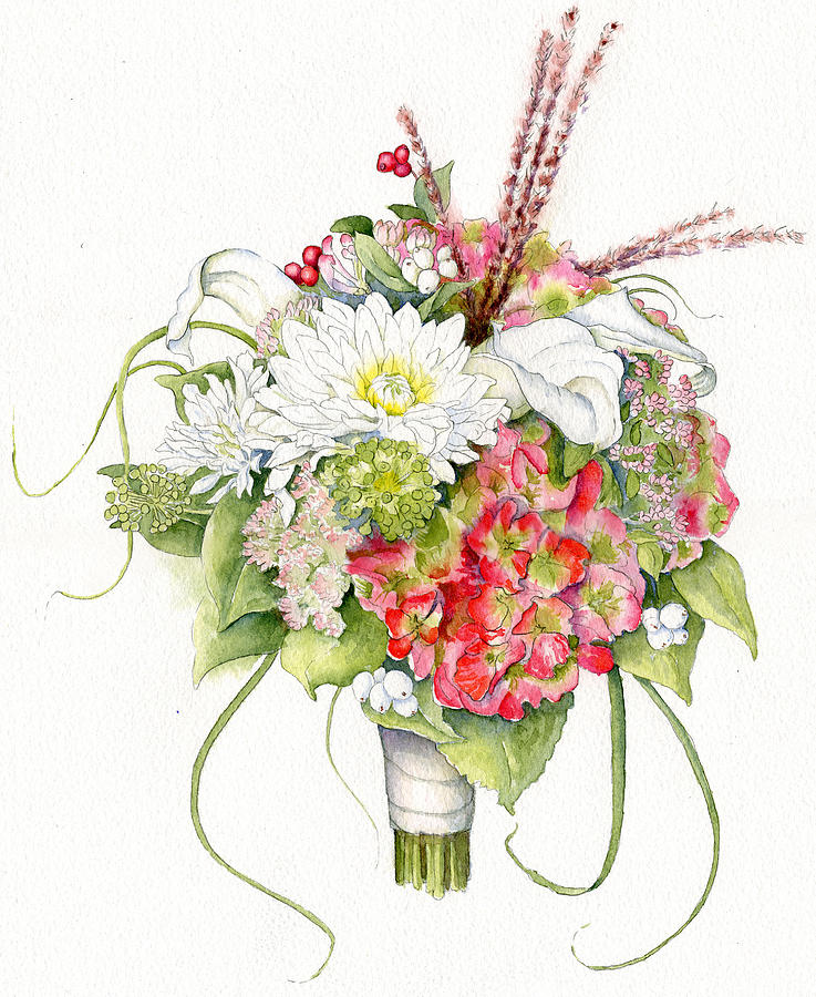 Floral Painting - Bridal Bouquet by Karla Beatty