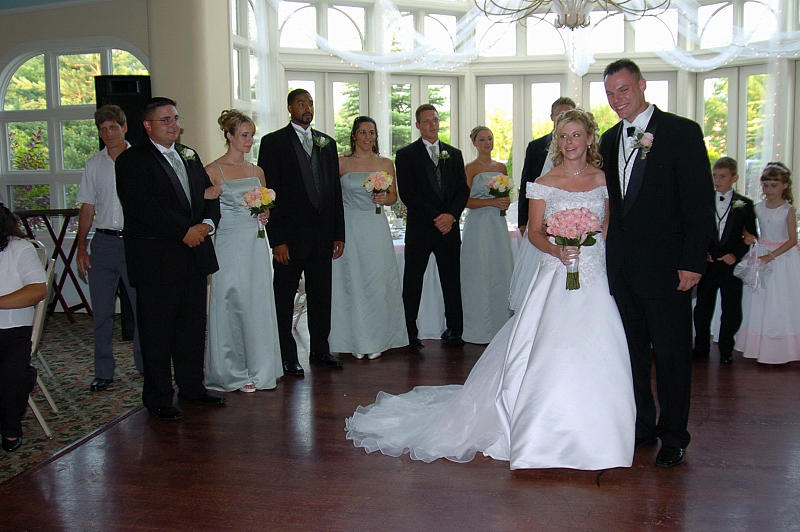 Bridal Party Photograph - Bridal Party Before First Dance by Mary Curtis
