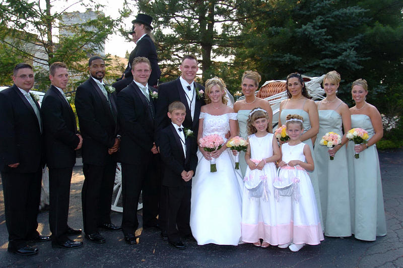Bridal Party Photograph - Bridal Party Right Off Bridal Carriage by Mary Curtis