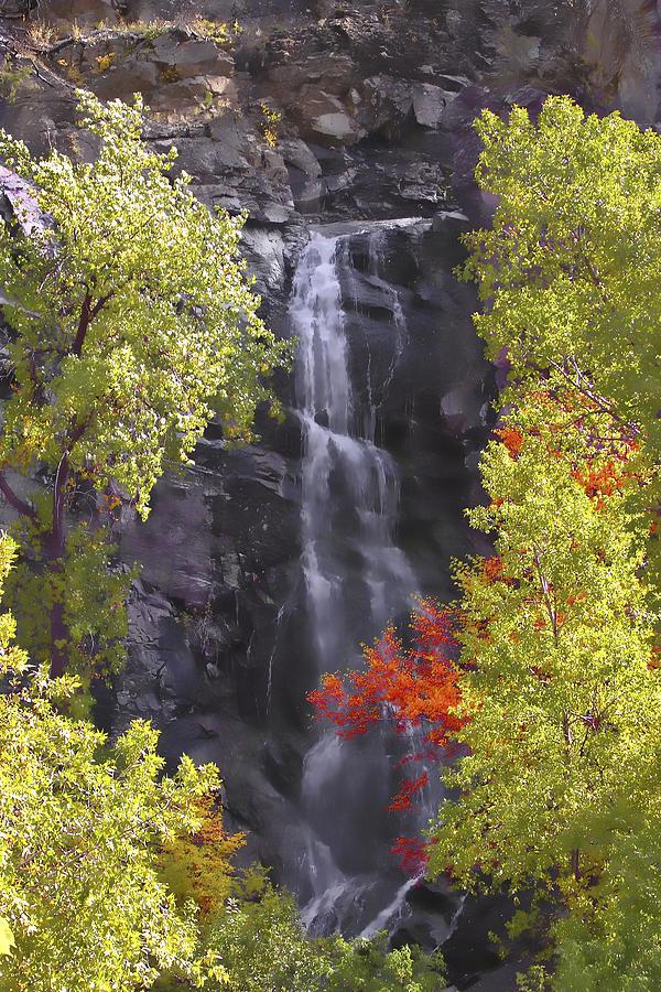 Waterfall Photograph - Bridal Veil Falls Black Hills by Rich Stedman