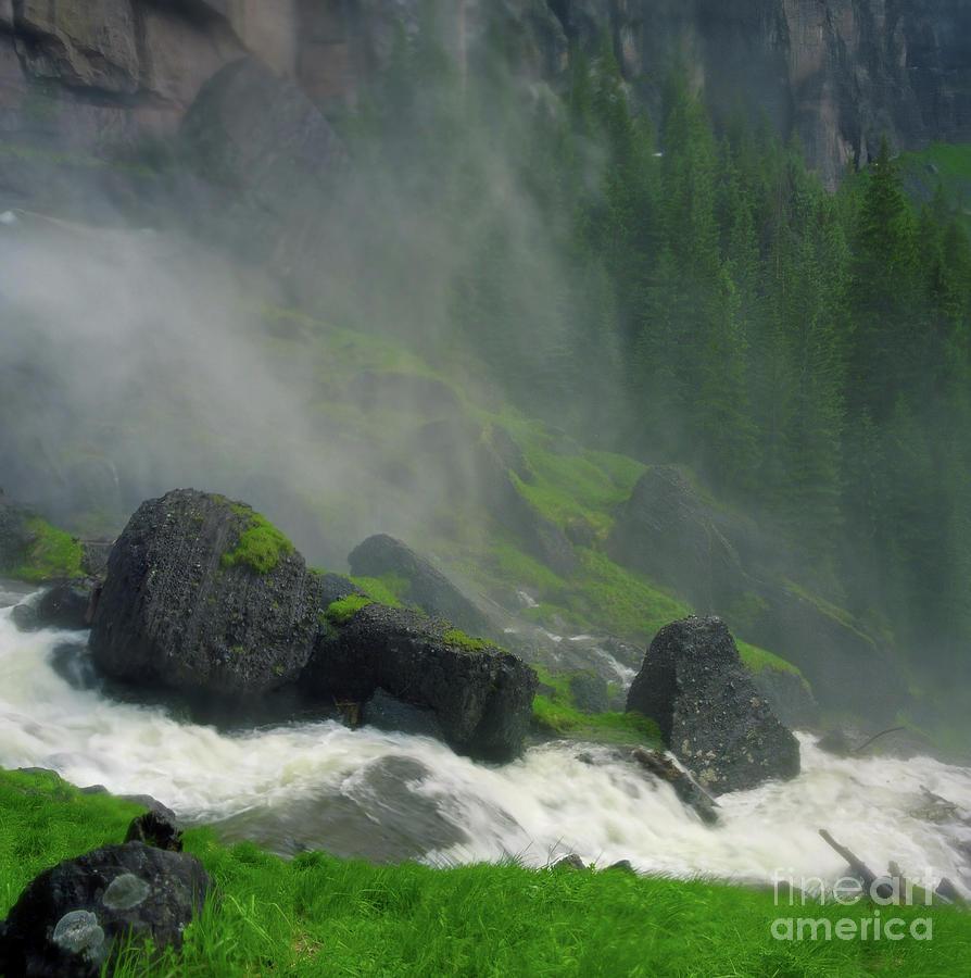 Aquatic Photograph - Bridal Veil Falls Mist by Crystal Garner