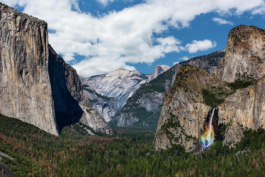 Yosemite Photograph - Bridal Veil Falls Rainbow by Daniel Kelly