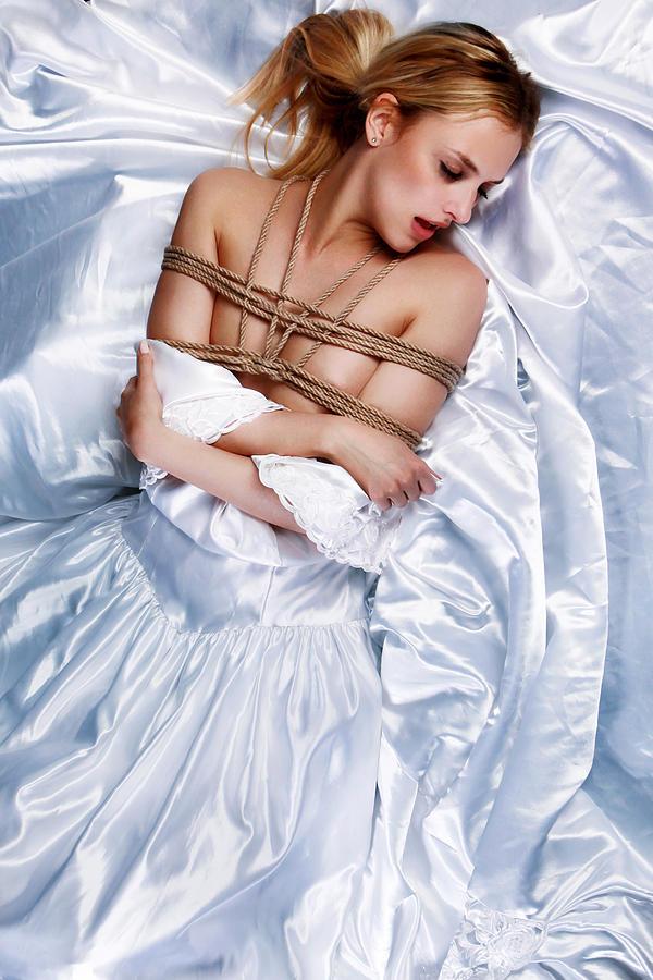 Bondage Photograph - Bridal/wedding Sensual Rope - Fine Art Of Bondage by Rod Meier