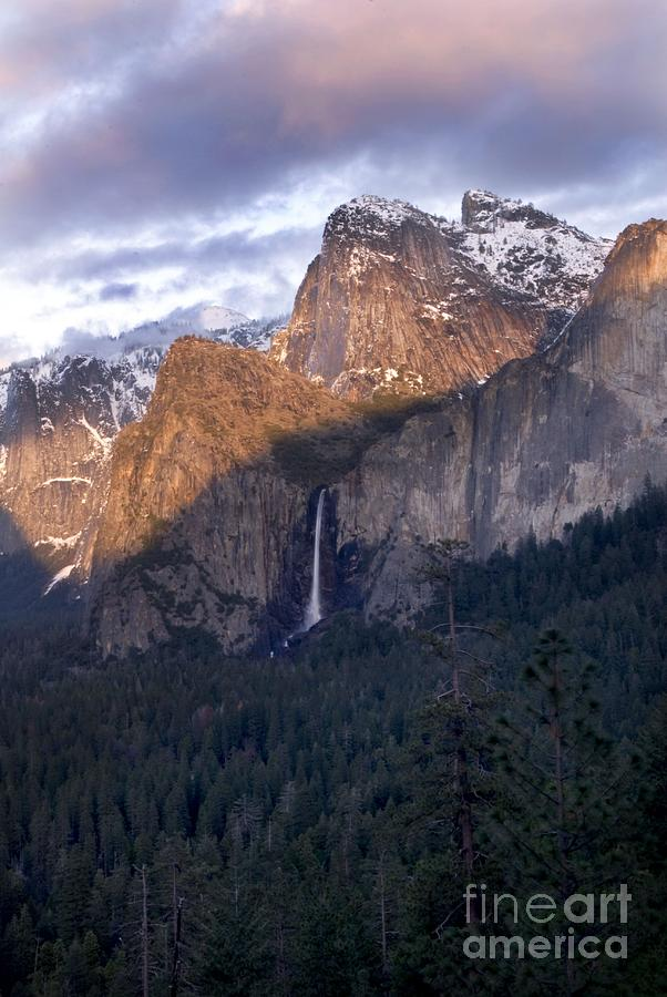 Landscape Photograph - Bridalveil Falls From Tunnel View by Richard Verkuyl