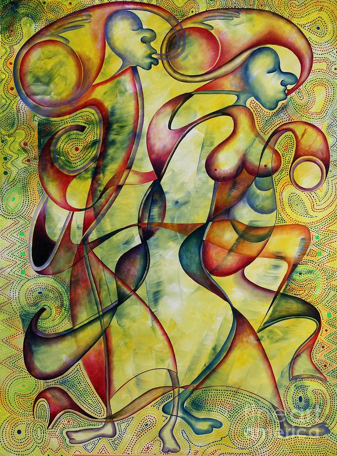 Painting Painting - Bride And Groom by Abu Artist