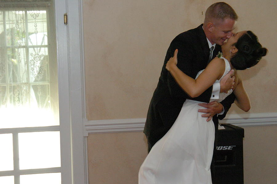 First Dance Photograph - Bride And Groom At The Inn At Saratoga Springs Ny by Mary Curtis