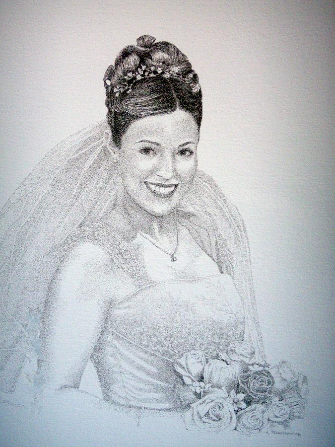 Bride Commission Painting by Tony Ruggiero