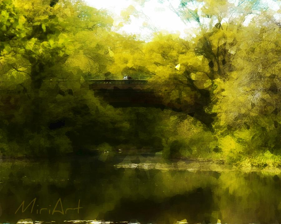 Bridge Photograph - Bride In The Forest by Miriam Shaw