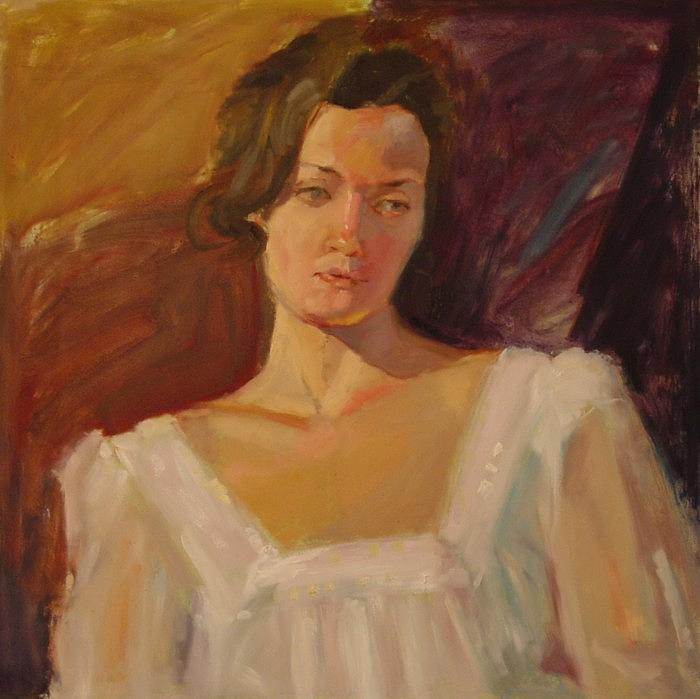 Girl In White Dress Painting - Bride by Irena  Jablonski