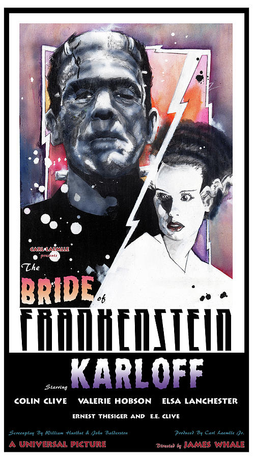 Bride of Frankenstein 1935 by Sean Parnell