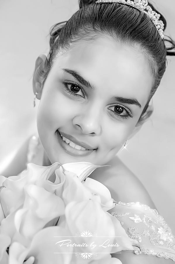 Bride Photograph - Princess Bride by Louis Rivera