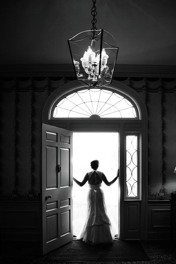 Bride Photograph - Bride Silhouette  by Lisa Lemmons-Powers