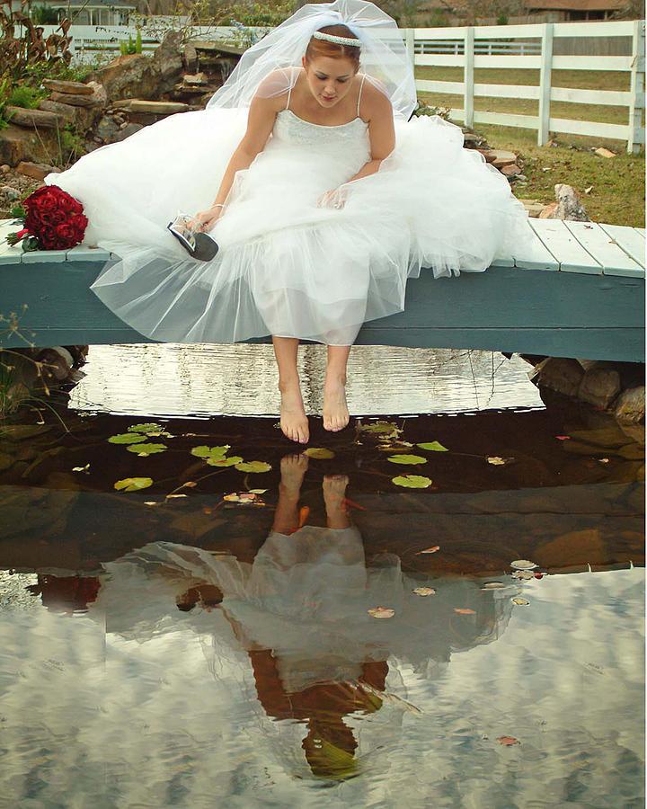 Bride Photograph - Brides Reflection by Ken Gimmi
