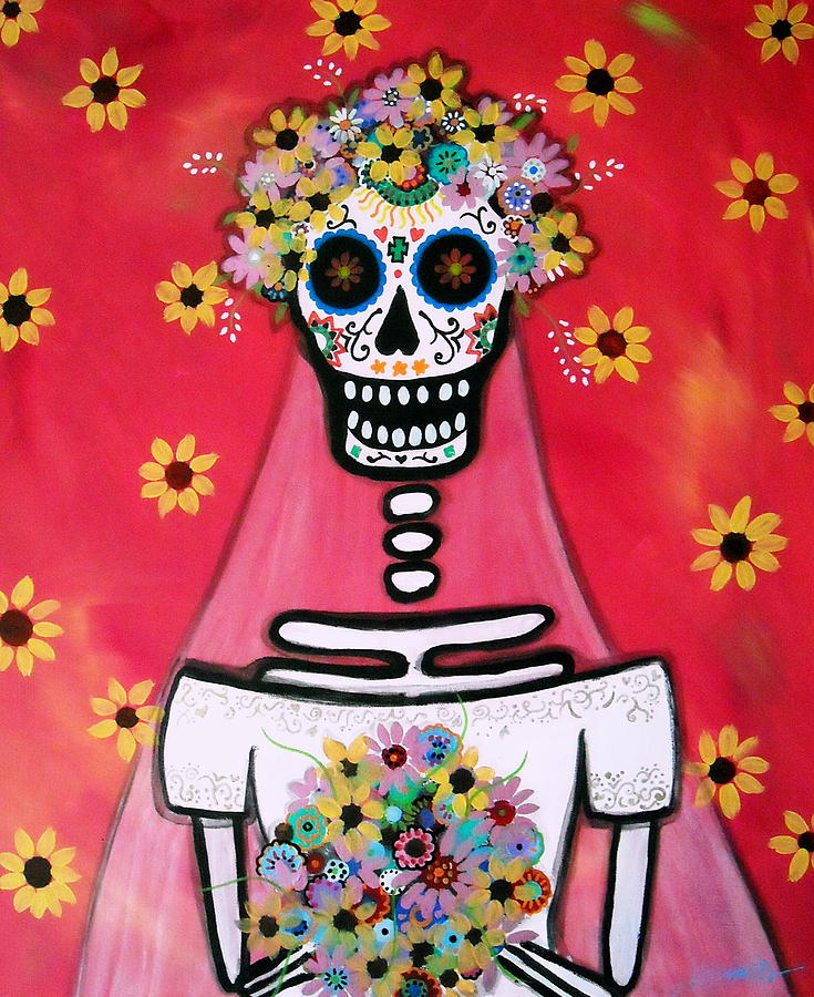 Bridezilla Dia De Los Muertos Painting By Pristine Cartera