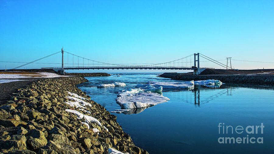 Bridge Across The Ice Lagoon Photograph