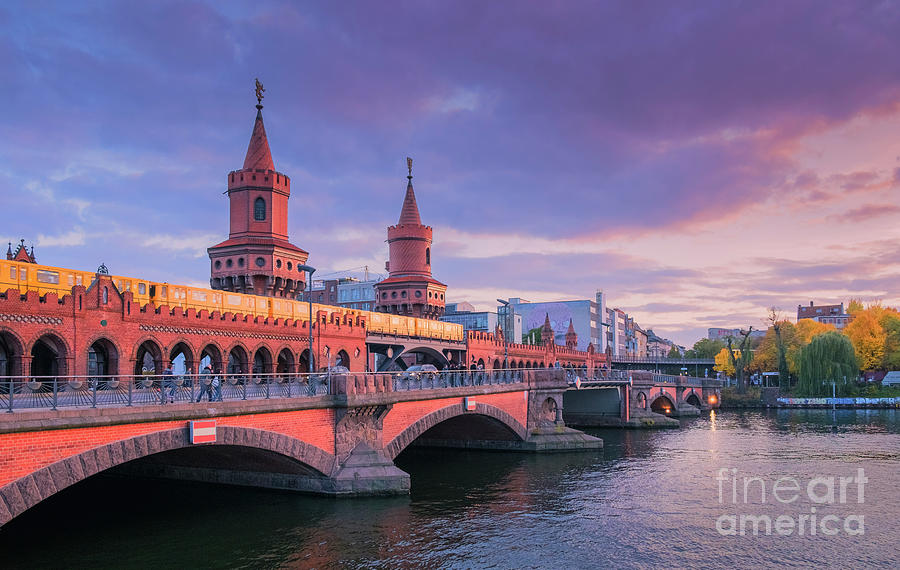 Berlin Photograph - Bridge Across The River Spree, Berlin, Germany by Philip Preston