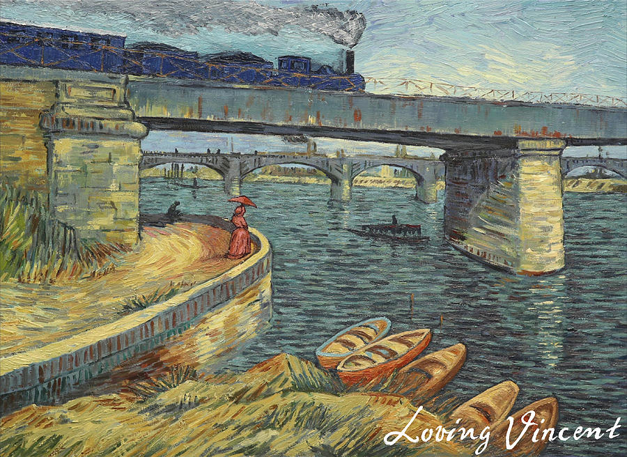 Bridge across the Seine at Asnieres Painting by Anna Kluza