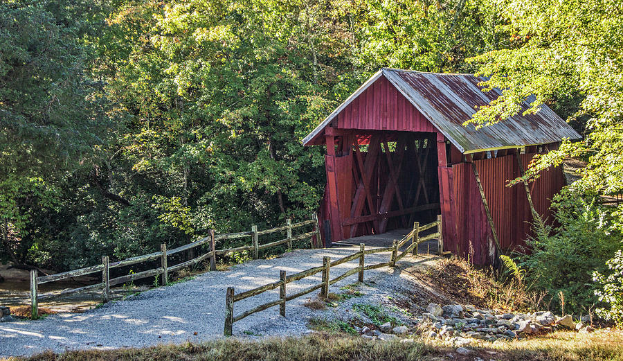 Campbell's Covered Bridge Photograph - Bridge Across Time by Patrick Moore