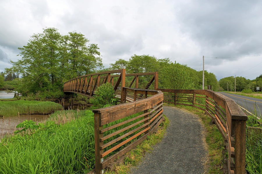 Hiking Photograph - Bridge along Lewis and Clark Hiking Trail  by David Gn