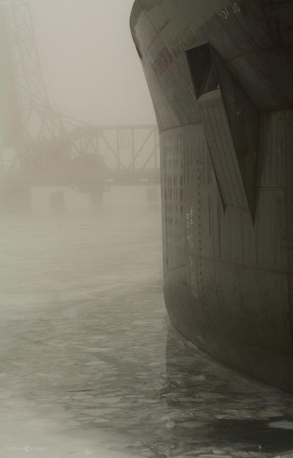 Bridge And Barge Photograph