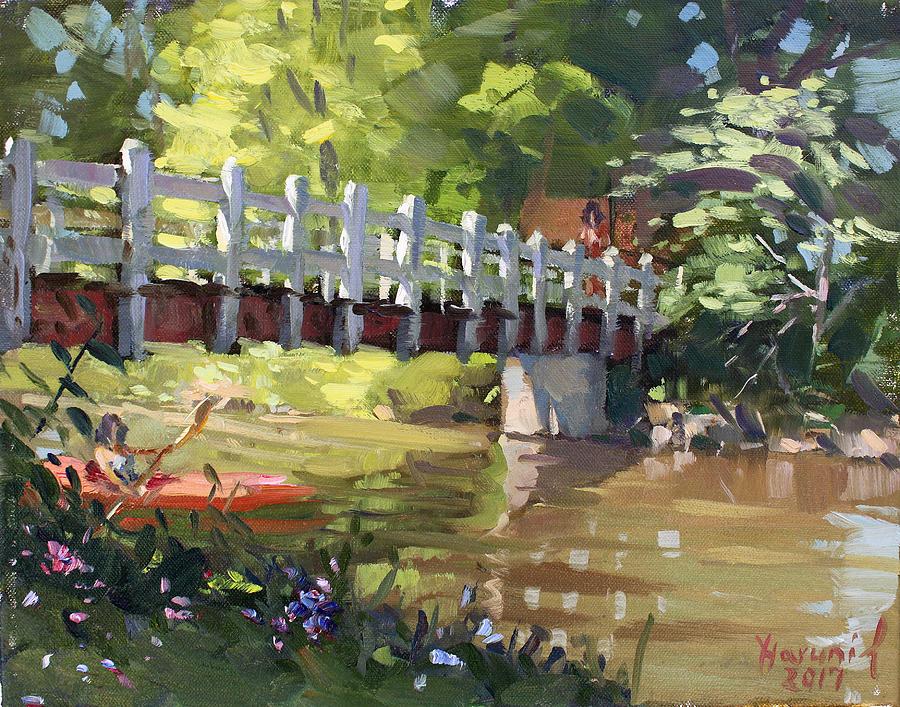Bridge Painting - Bridge At Ellicott Creek Park by Ylli Haruni