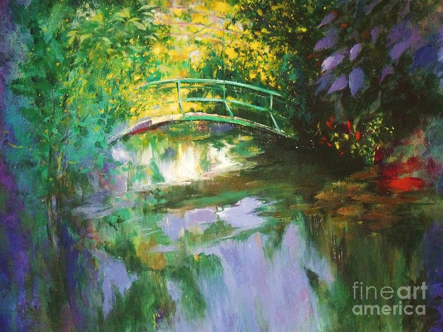 Canvas Print Painting - Bridge At Giverny by Madeleine Holzberg