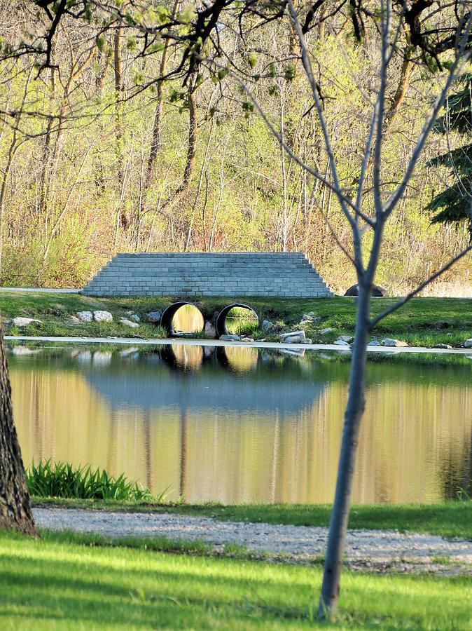 Island Park Photograph - Bridge At Island Park by Creations by Shaunna Lynn