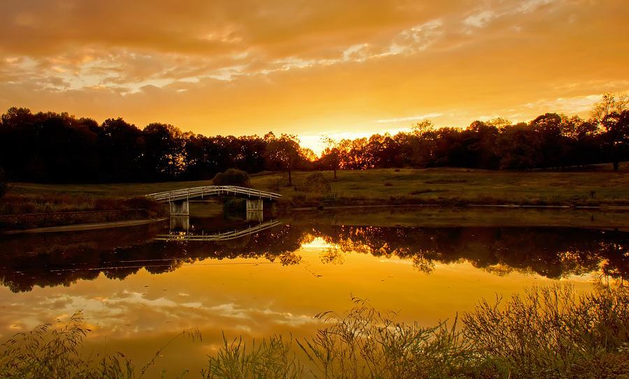 Bridge Photograph - Bridge At Sundown by Keith Bridgman